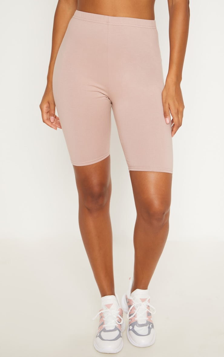 Dusty Pink Cotton Stretch Cycling Shorts  2