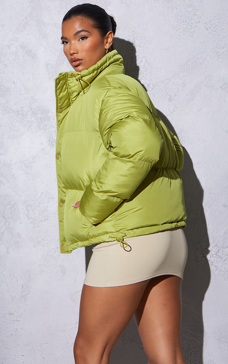 RENEW Olive Toggle Detail Puffer Jacket 2
