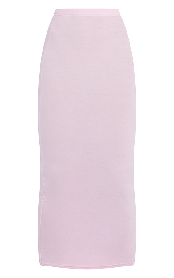 Pink Basic Midaxi Skirt 6