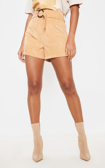 Stone Cord Belted Short