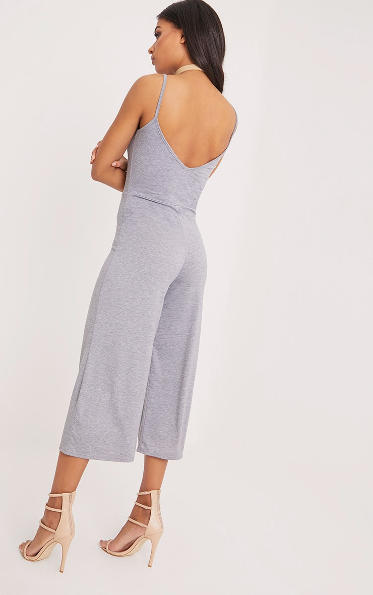 Kailyn Grey Jersey Culotte Jumpsuit 2