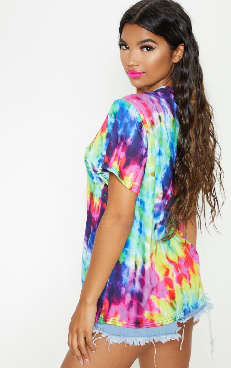UNISEX Multi Tie Dye Oversized T-shirt  3