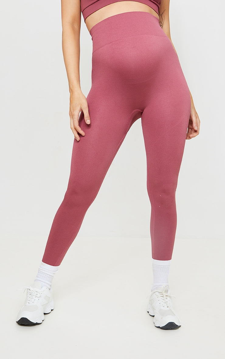 Rose High Waist Seamless Gym Leggings 2