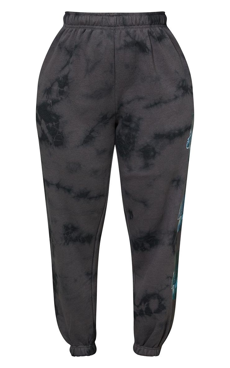 Jogging gris tie & dye imprimé statue 9
