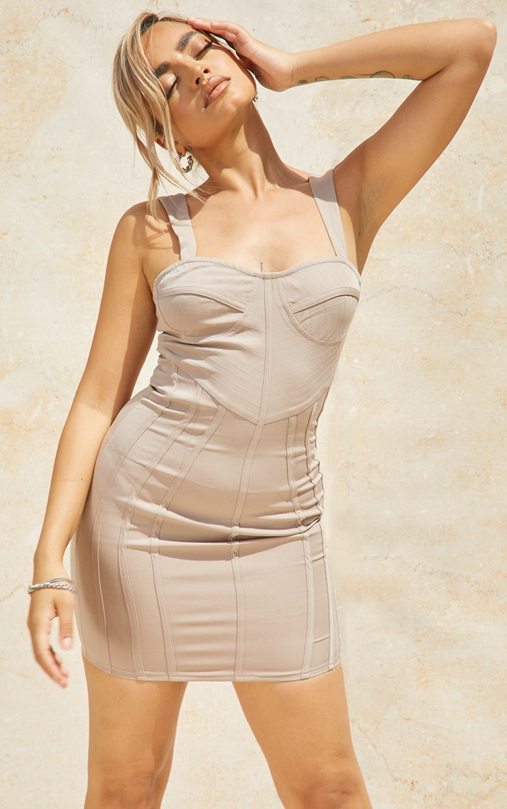 Petite Stone Strappy Corset Detail Dress 3