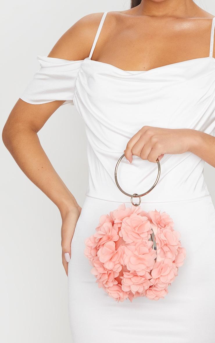 Pink Floral Sphere Clutch 1