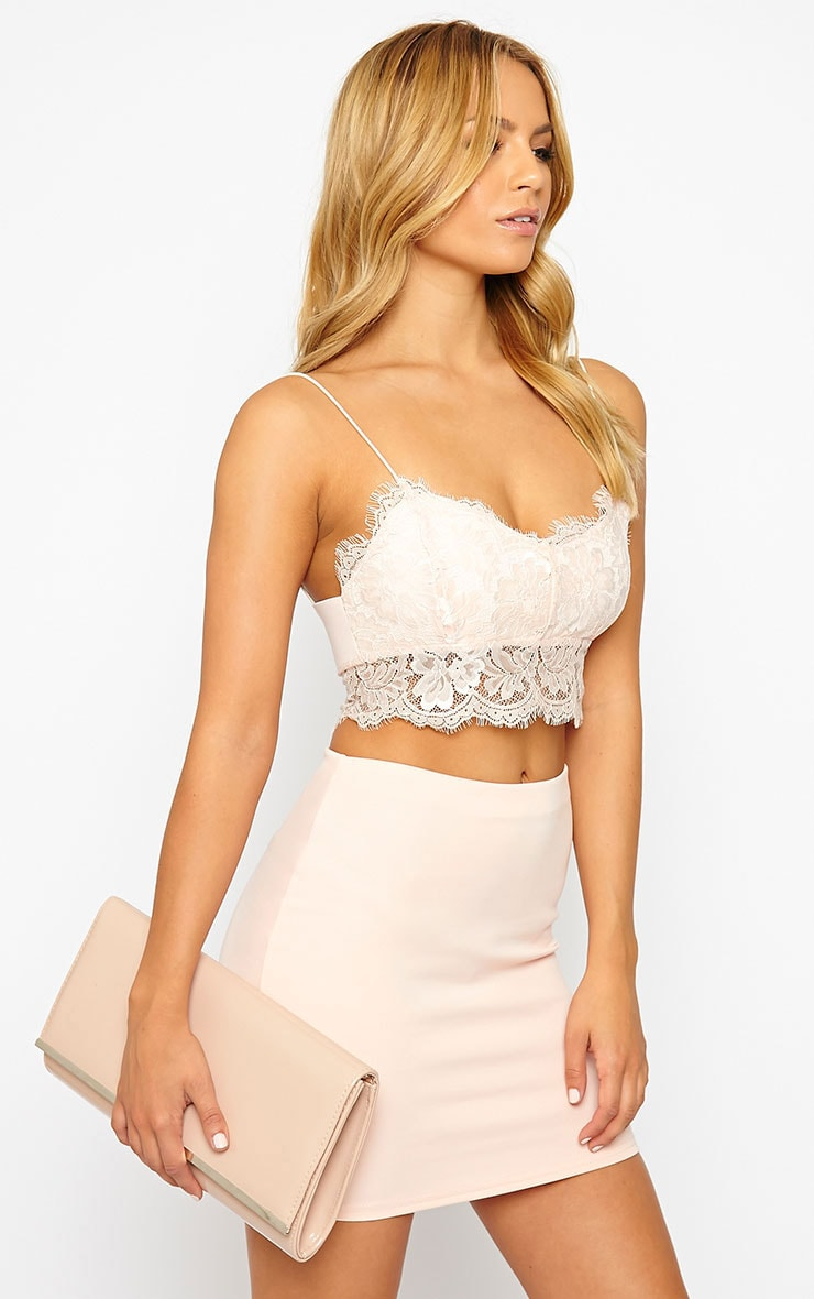 eb57afcf3758f Chloe Pink Lace Bralet - Tops - PrettylittleThing ...