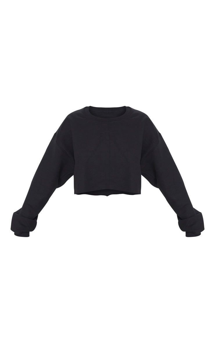 Black Ultimate Cropped Sweater 3