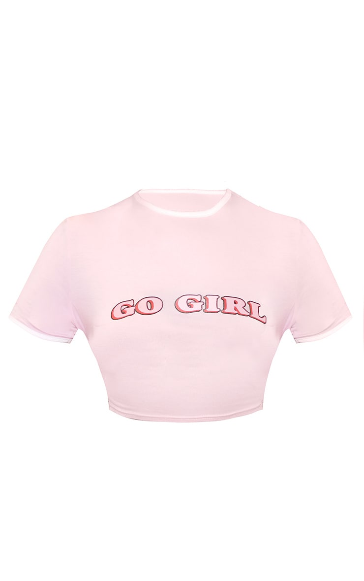 Go Girl Cropped Binding Top Baby Pink 4