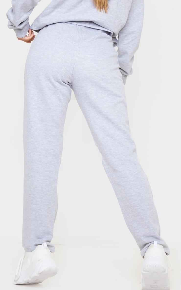 Petite Grey Marl Straight Leg Jogger  4