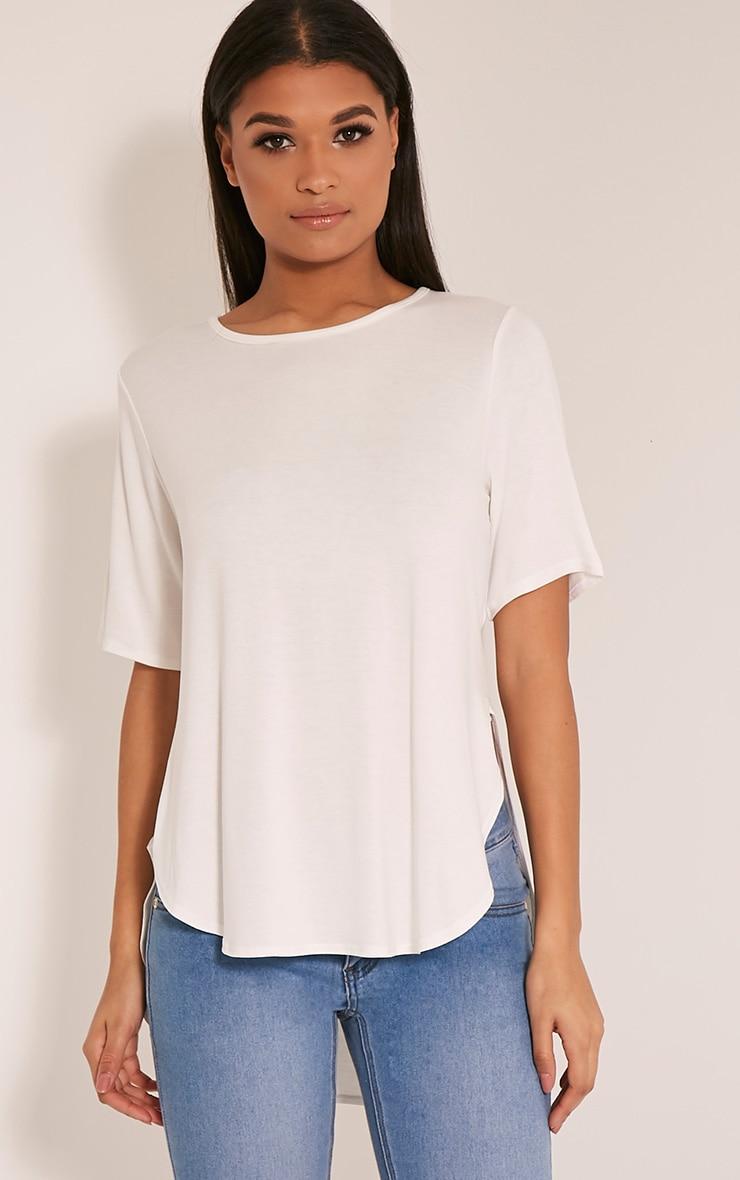 Ashby Cream Strap Back Jersey T Shirt 4