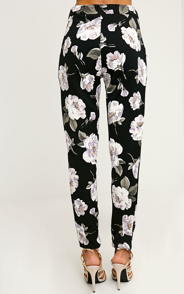Avril Ivory Floral Printed Trousers 4
