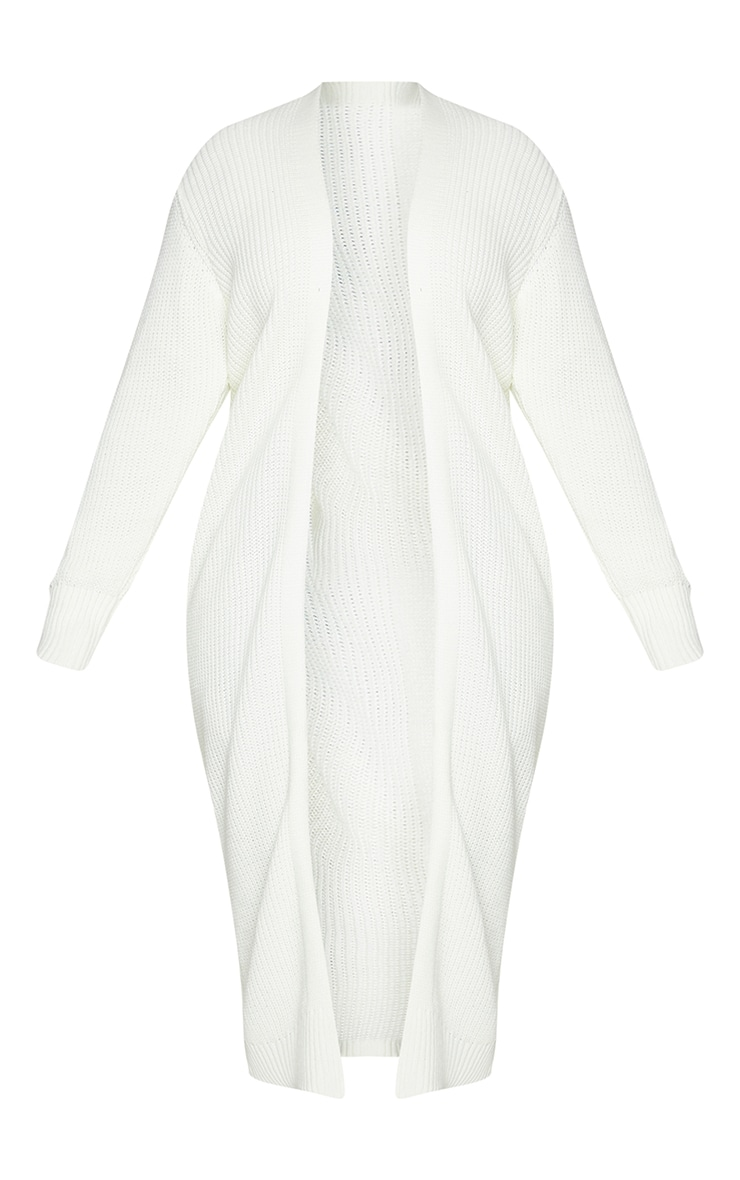 Plus Cream Maxi Knitted Cardigan 5