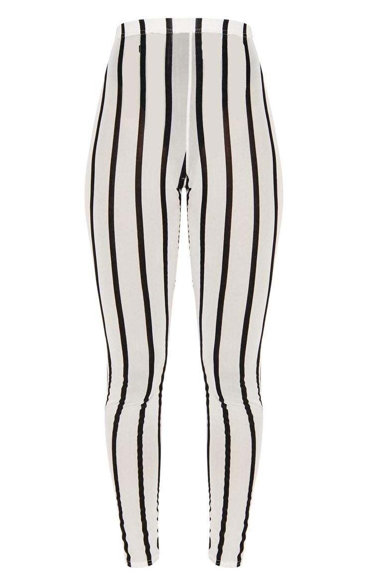 White Mesh Stripe Legging 3