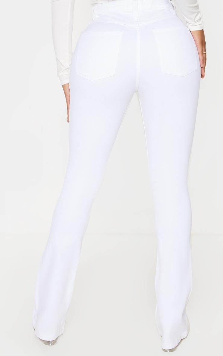 Shape White Stretch Denim Flared Jean 4