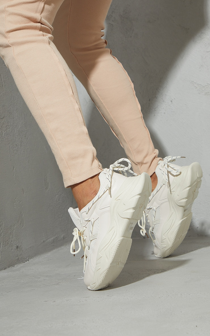 Sand Hiker Lace Up Double Sole Chunky Trainers 1