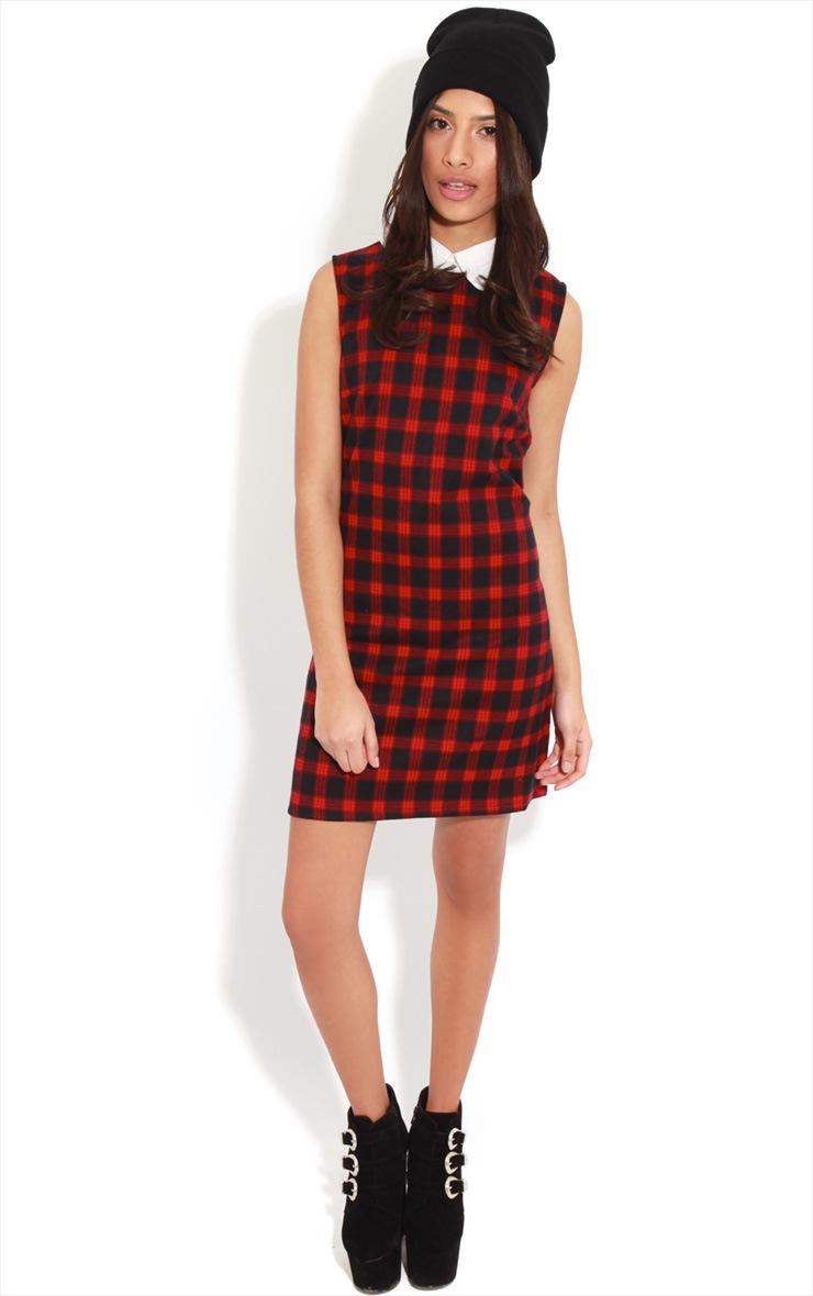 Chayse Sleeveless Tartan Collar Dress 3