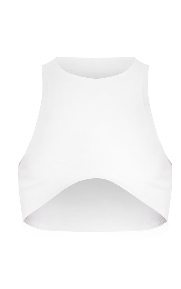 White Underbust Crop Top  3