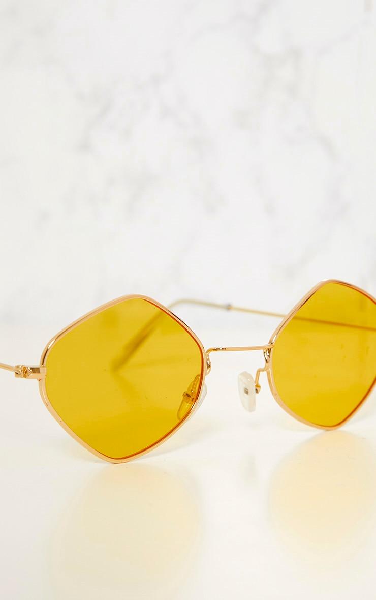 Yellow Diamond Shape Sunglasses 6