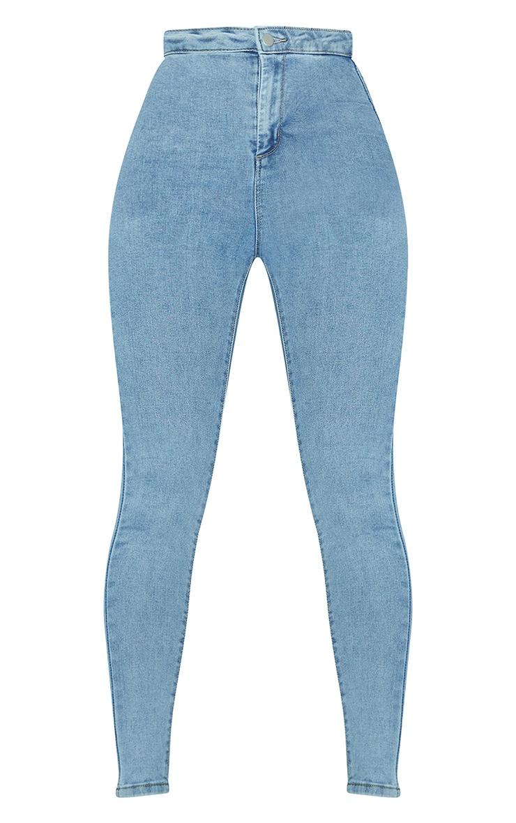PRETTYLITTLETHING Vintage Wash Disco Skinny Jean 3