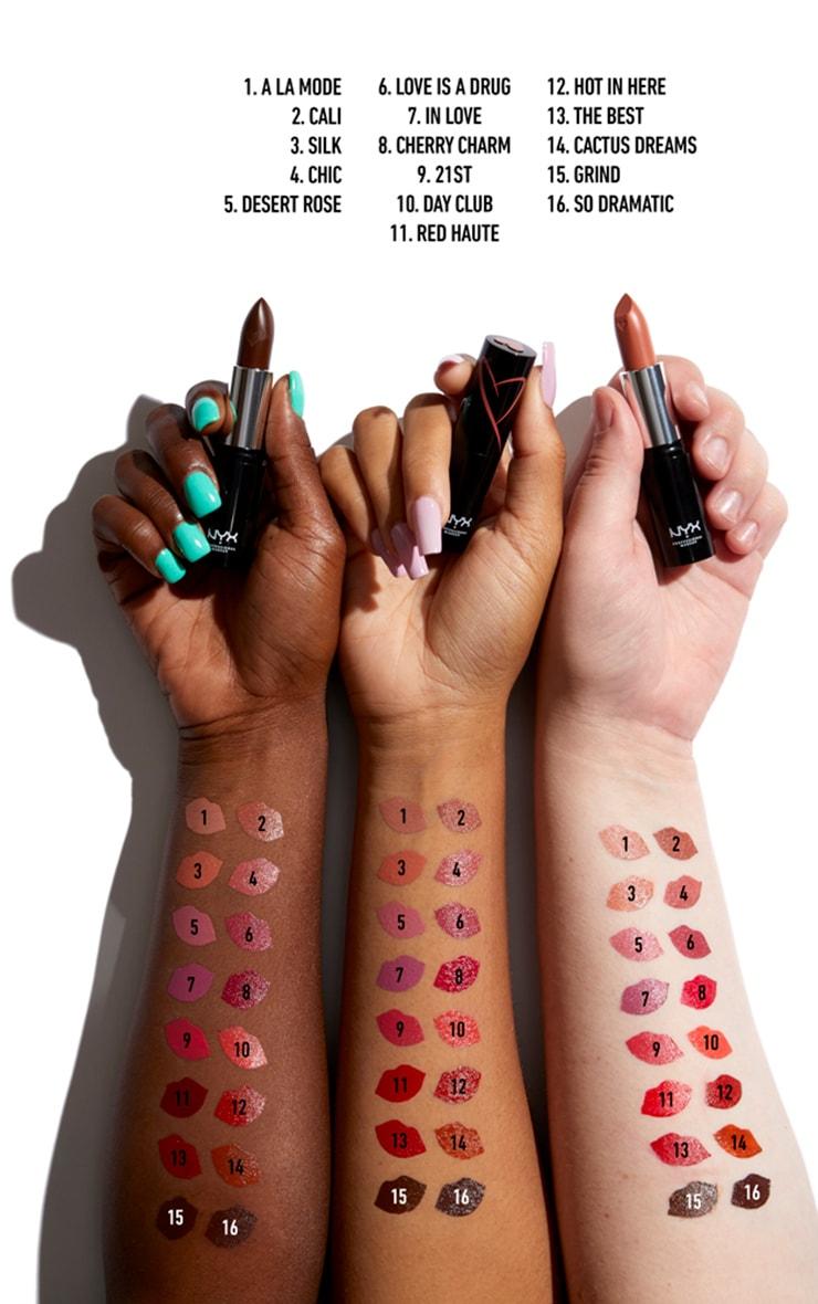 NYX PMU Shout Loud Satin Lipstick Bright Pink 21st 4