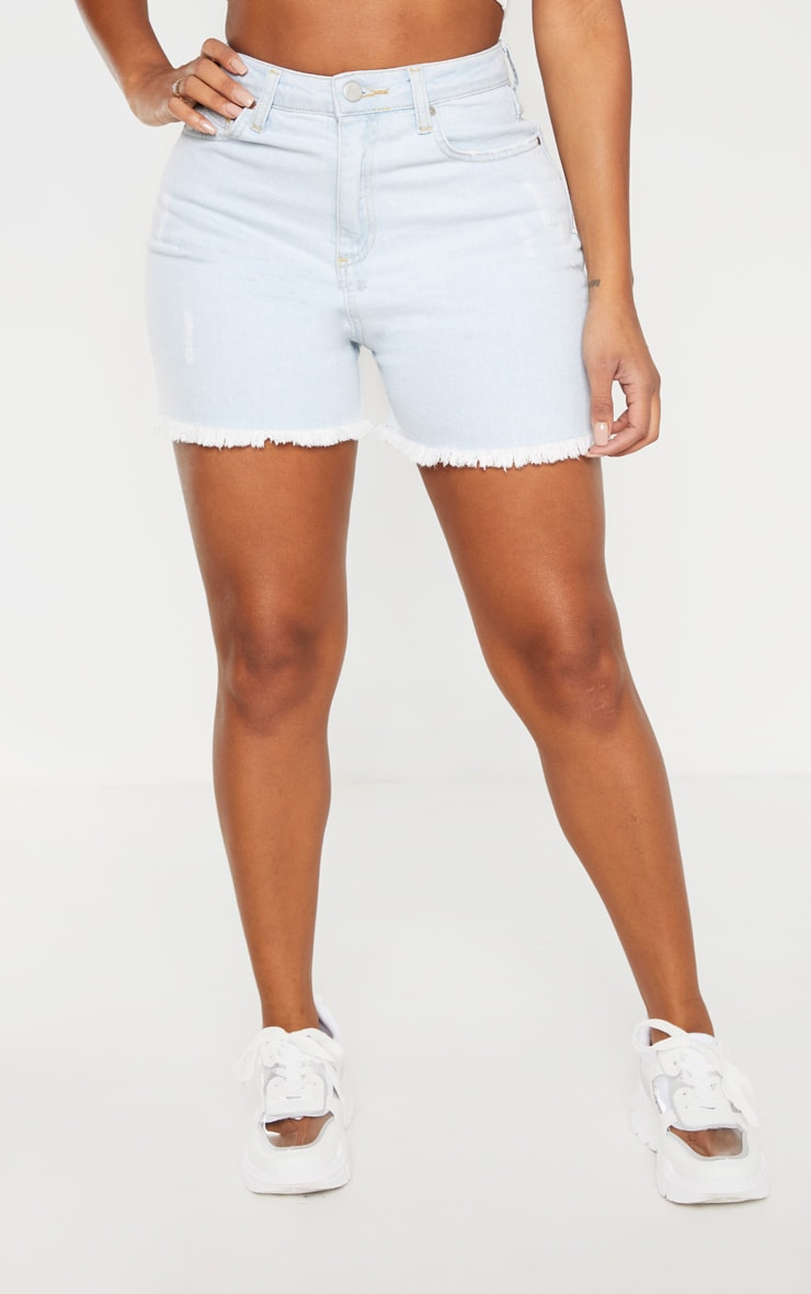 Shape Pale Blue High Waist Denim Shorts 2