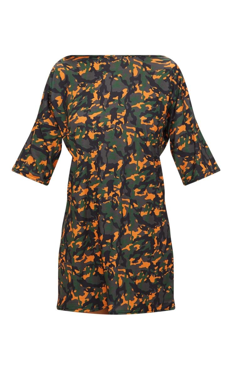 Camo Print T-Shirt Dress 3