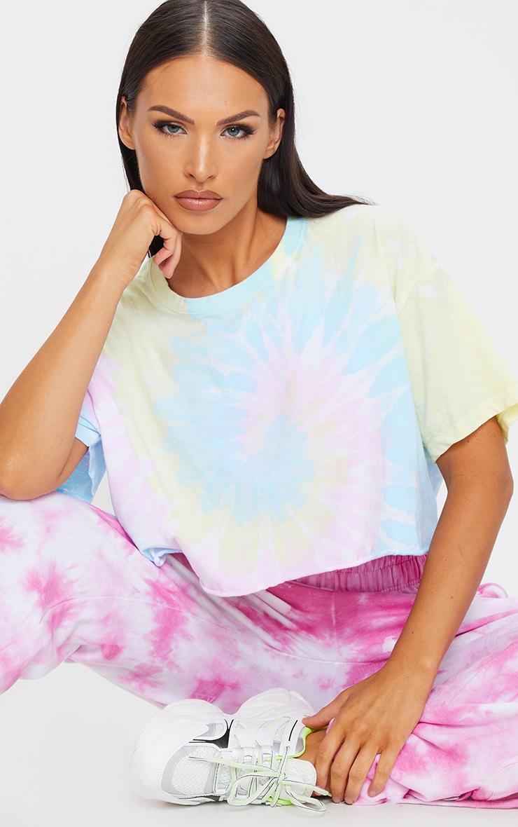 Multi Tie Dye Cropped T Shirt 3