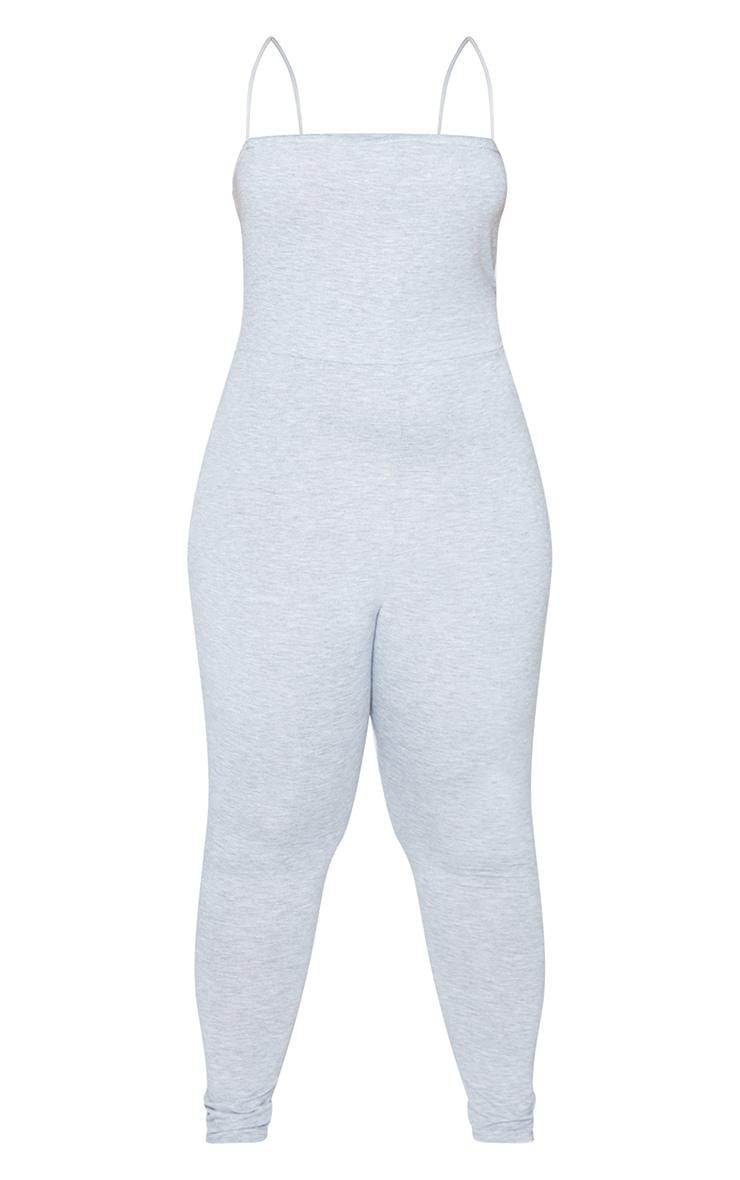 Plus Grey Basic Strappy Jumpsuit 5