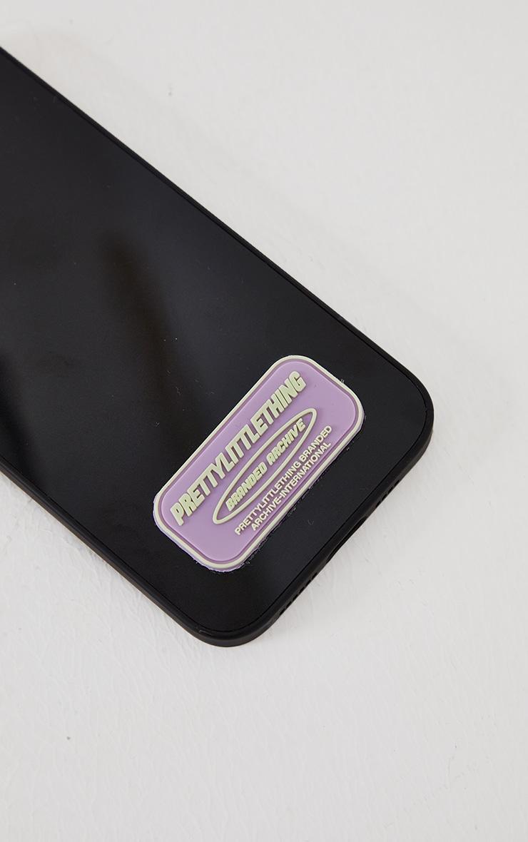PRETTYLITTLETHING - Coque noire à imprimé Branded Archive pour iPhone 12 Pro Max 4