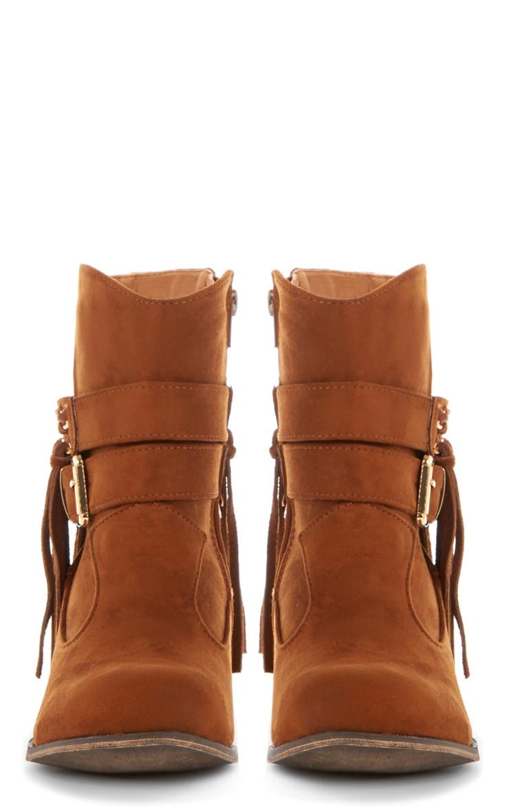 Trixie Tan Tassel Boots  2