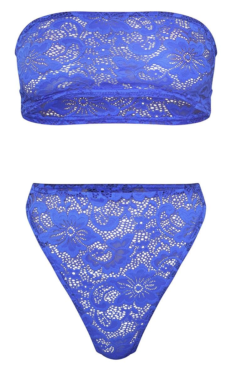 Cobalt Basic Lace Bandeau Lingerie Set 4