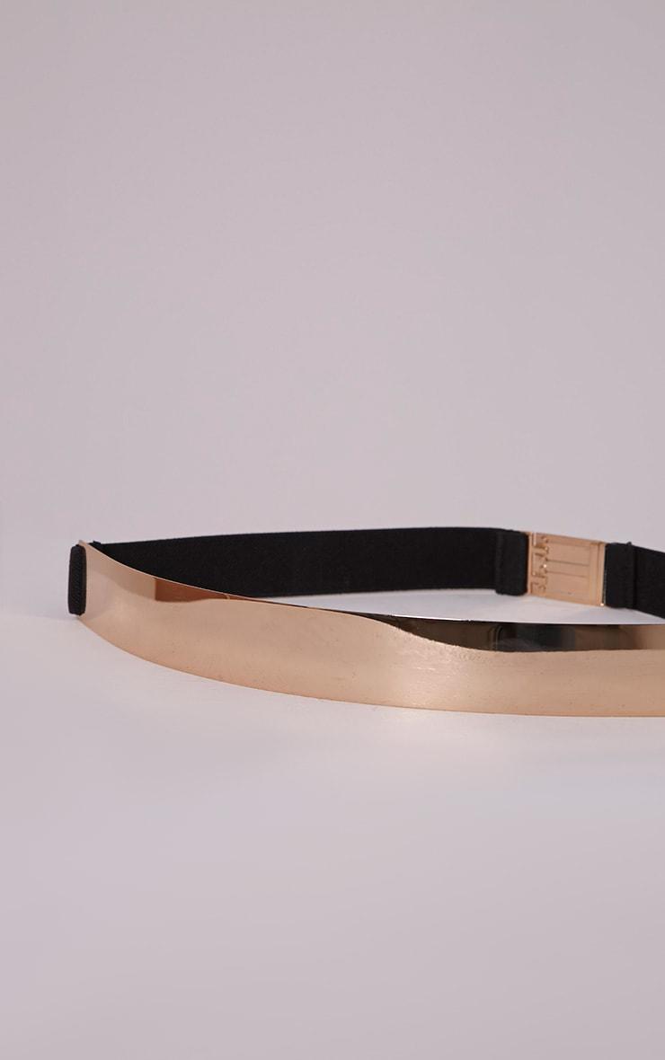 Embla Gold Plate Elasticated Waist Belt 5