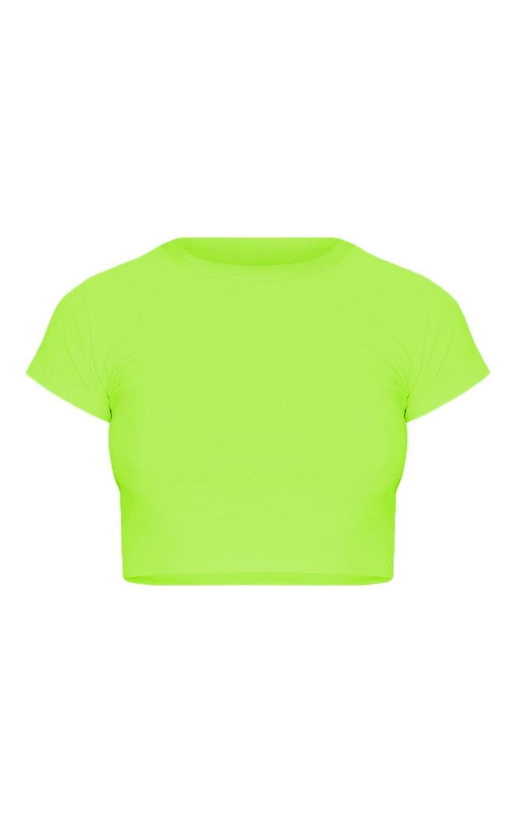 Lime Short Sleeve Crop T Shirt 3