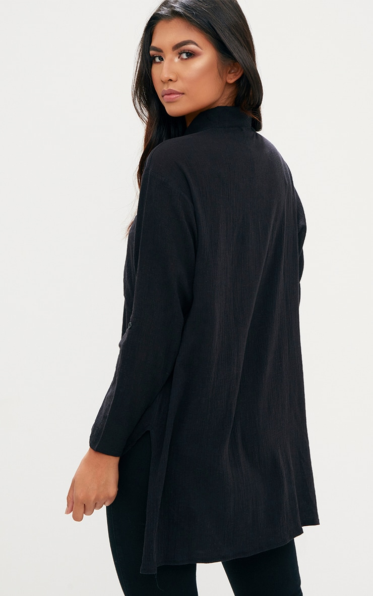 Black Cheesecloth Shirt 2