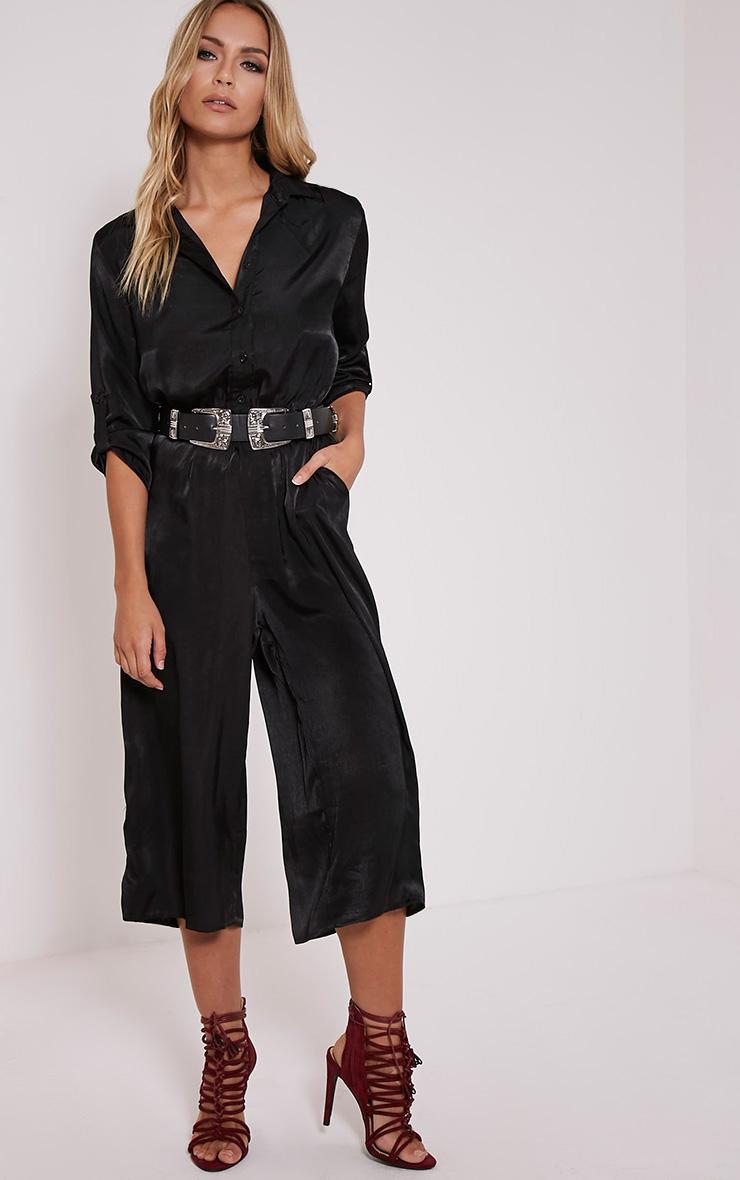 Katriana Black Culotte Jumpsuit 1