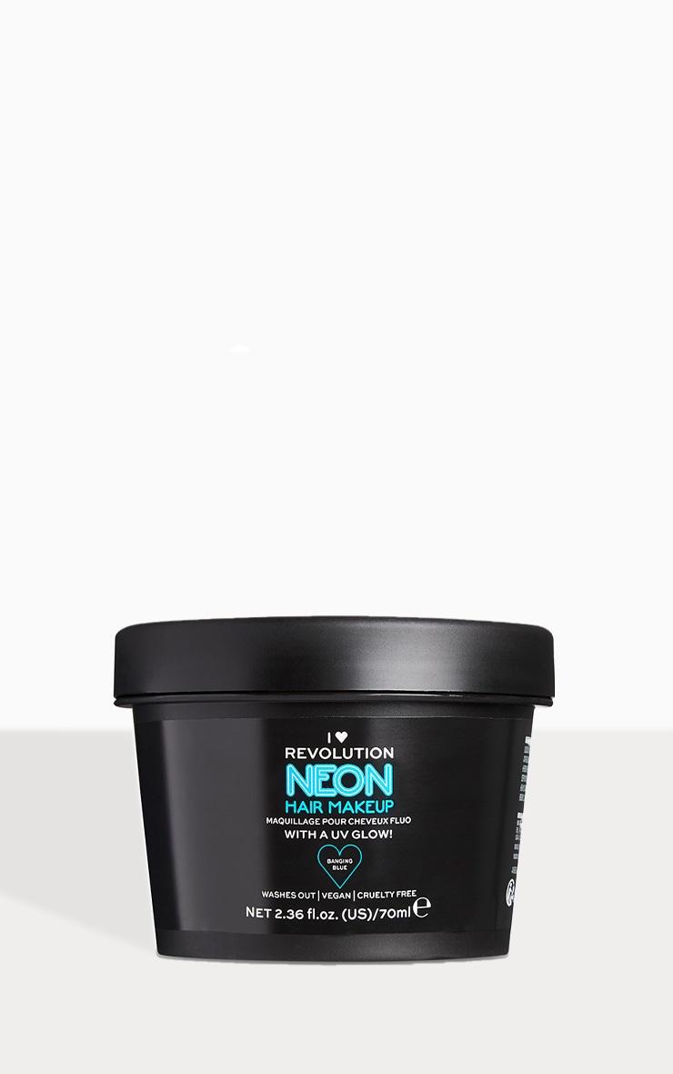 I Heart Revolution UV Neon Blue Hair Make Up 1