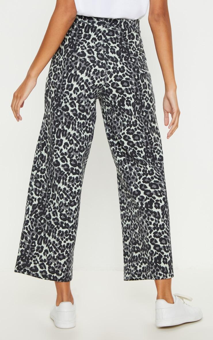 Grey Leopard Print Culotte 3