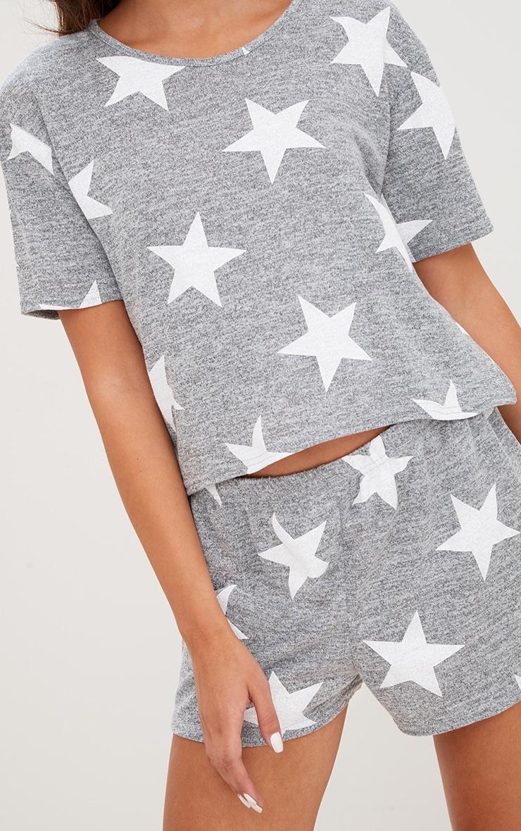 Grey Star T Shirt PJ Set  5