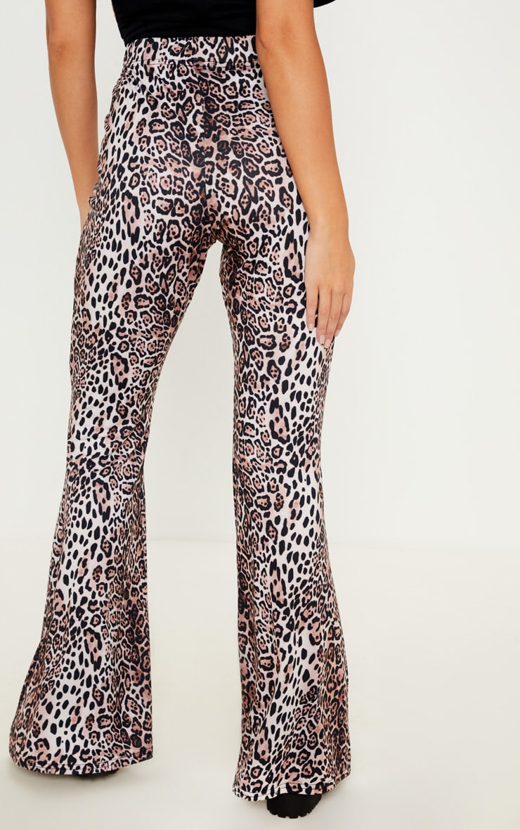 Leopard Printed Jersey Flare 4