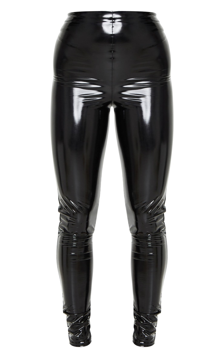 Black High Waisted Vinyl Legging 5