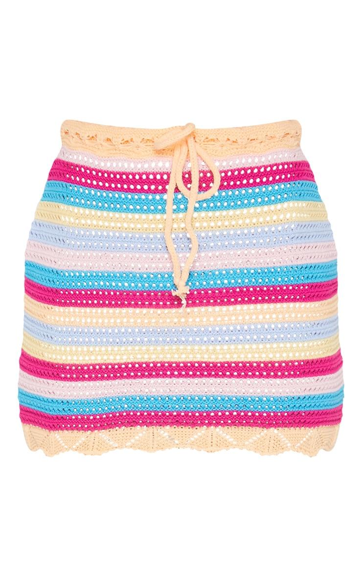 Rainbow Crochet Knit Skirt 3