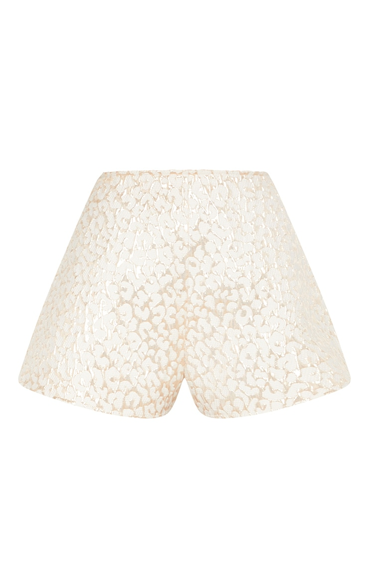 Gold Foil Print Floaty Shorts 3