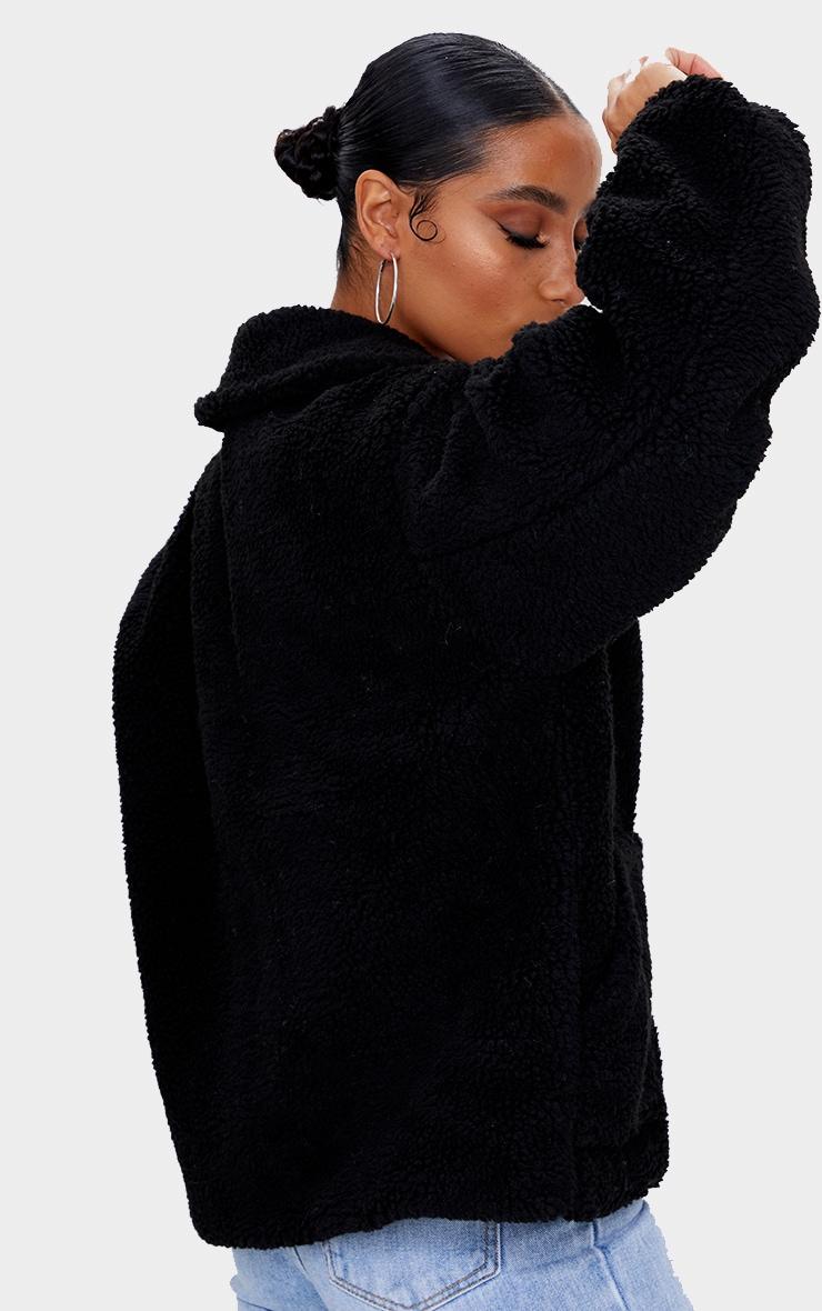 Black Borg Zip Up Oversized Jacket 2