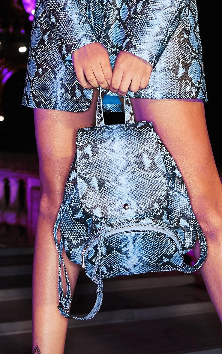 Blue Snake Mini Backpack  1