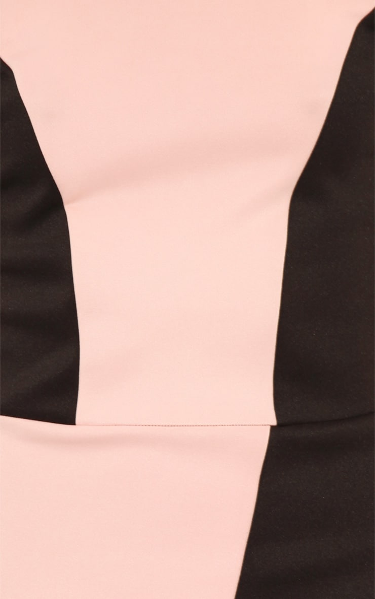 Reanne Pink Panelled Wrapover Dress 5