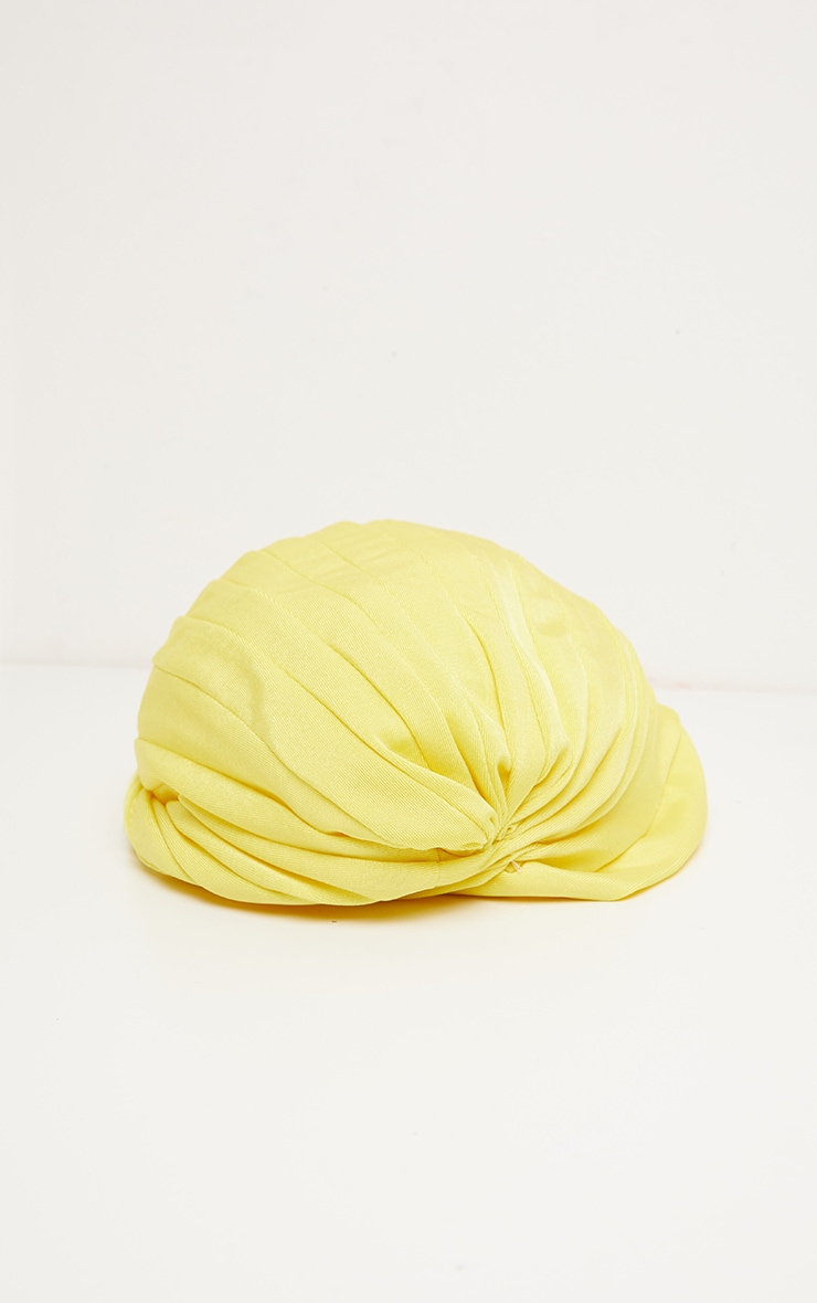 Yellow Knotted Turban 2