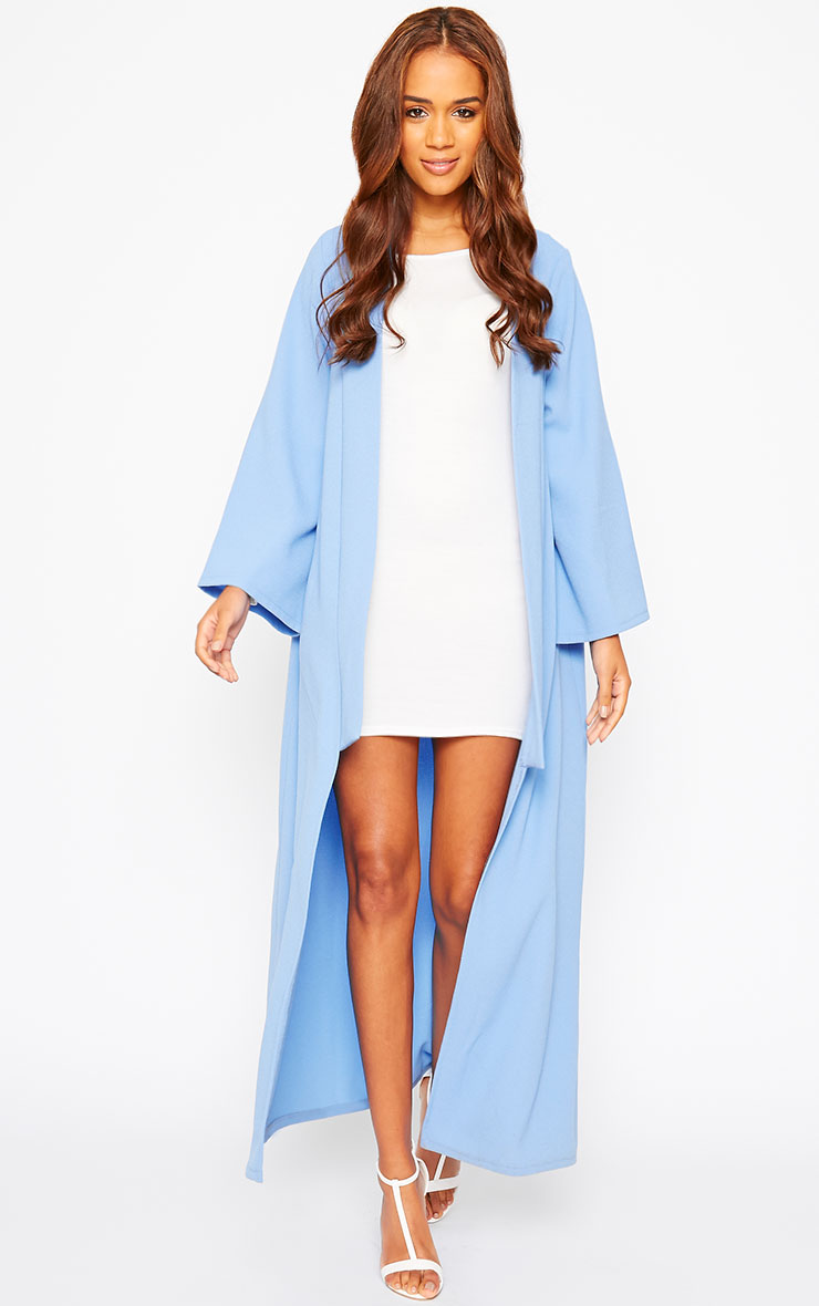 Robin Powder Blue Maxi Duster Coat 1