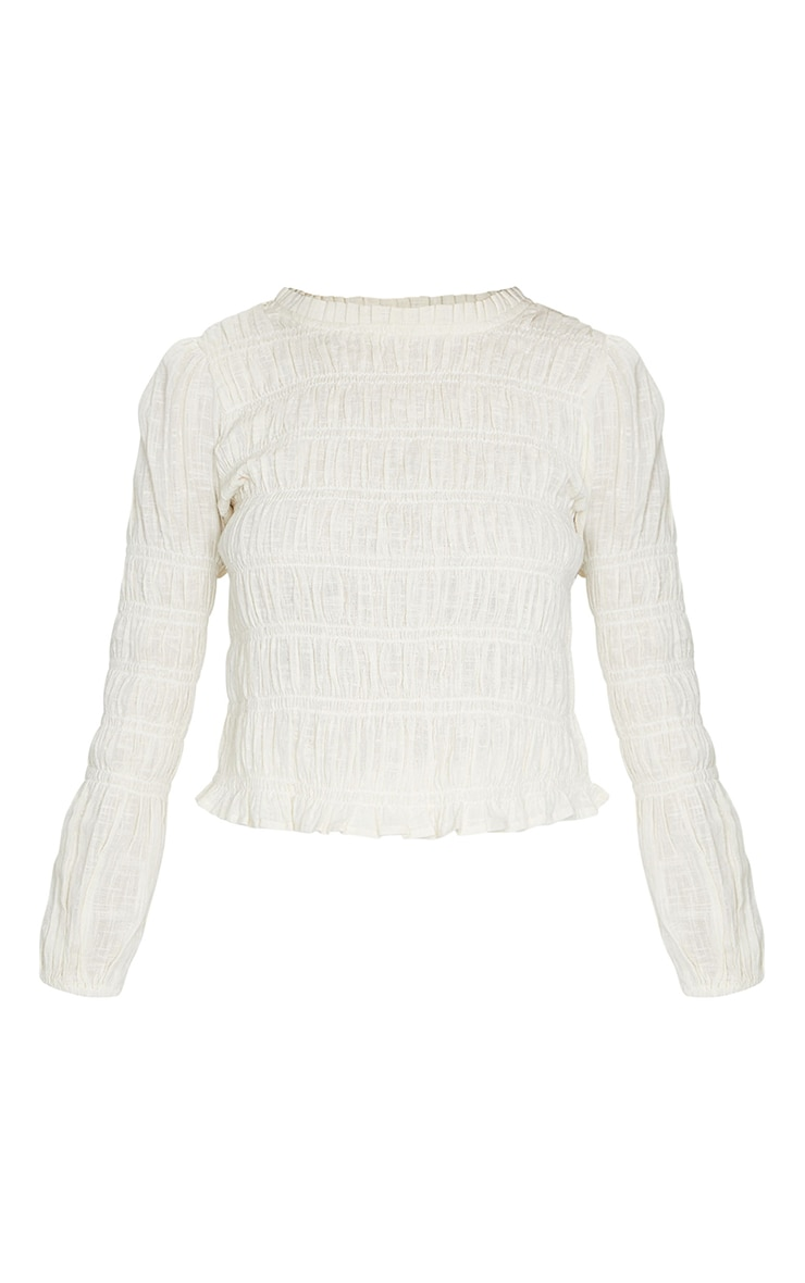 Sand Woven Ruched Top 5