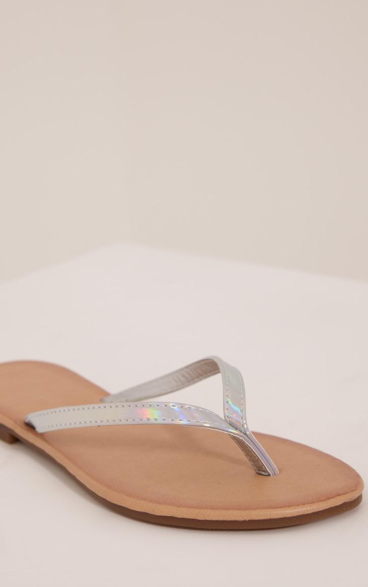 Lanee Silver Flip Flops 5